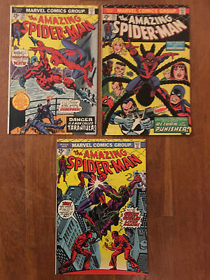 Amazing Spider-Man #134-136 (1st Tarantula, 2nd Punisher, 1st Harry Goblin) 1974