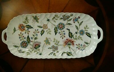 "Andrea by Sadek BUCKINGHAM Floral Chintz Porcelain Serving Dish Tray 14"" NICE !"