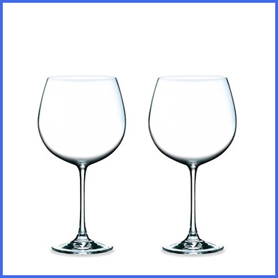 Magnum Burgundy All Purpose Clear RED Wine Glasses Lead Free Glass 23 OZ Set Of