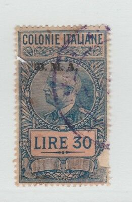 Lybia Lybya Italy UK GB revenue Fiscal stamp- 6-59- scarce - faulty as seen