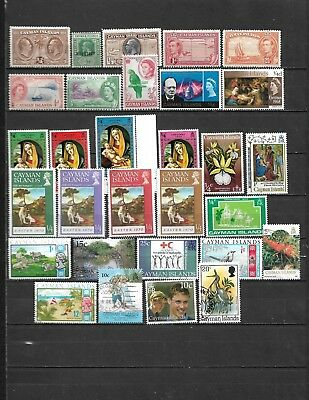 Collection Lot Of 30 Cayman Islands Stamps 1932+