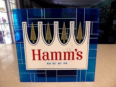 1970's Hamm's Beer Plastic Sign Insert Plexiglass 11 by 11 3/4 inches