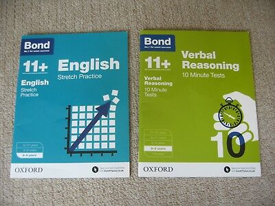 Bond papers and tests 11+ 8-9 years English & Verbal Reasoning
