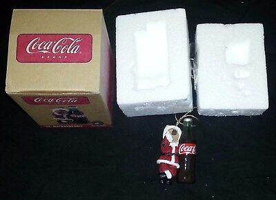 Coca-Cola Coke Ornament St Nickelberry - Bear Dressed like Santa