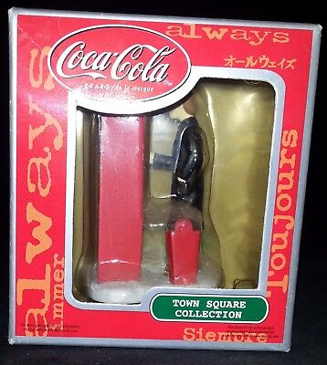 "Coca-Cola Coke Ornament Town Square Collection ""Man at Coke Dispenser"""
