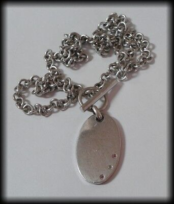 Chunky 925 Solid Sterling Silver and Genuine Diamond Necklace by Hot Diamonds