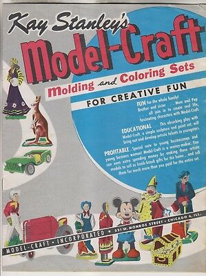 Vintage Catalog - Kay Stanley's Model-Craft Molding And Coloring Sets
