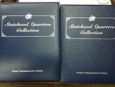 Postal Commemorative Society Statehood Quarters Collection 50 States 2 Volumes