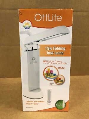 Ottlite 13w Folding Task Lamp White Model 783wg3 New