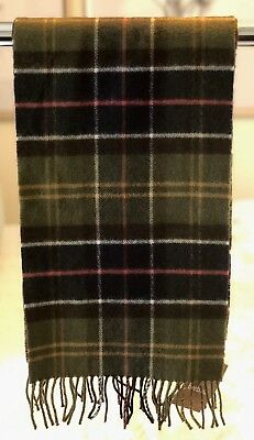 Men's Barbour Merino Cashmere Scarf | Tartan Plaid | One Size
