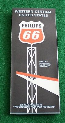Phillips 66 Western Central 1967 Map - New!