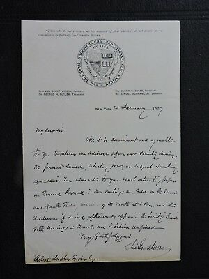 1887 James Grant Wilson Signed Letter ! Civil War General +Author +Editor Ny W@w