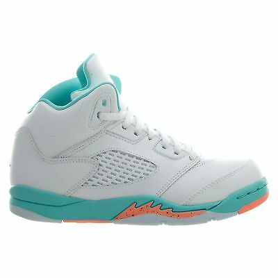 d1d77160262 NEW AIR JORDAN Youth 5 Retro (PS) Shoes (440893-100) White//Crimson ...