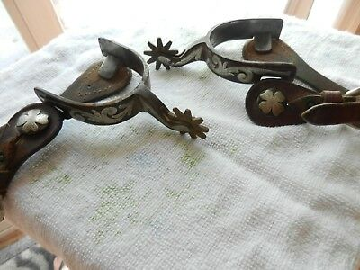 ANDREWS 1996 L84 Cowboy Spurs With Silver Inlay