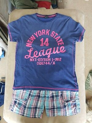 *REDUCED* Boy's Next T-Shirt And Shorts Outfit Age 11 Years