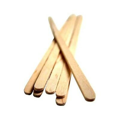 """Biodegradable Wooden Coffee/Tea Stirrers 7"""" Long (18cm) - Rounded End"""