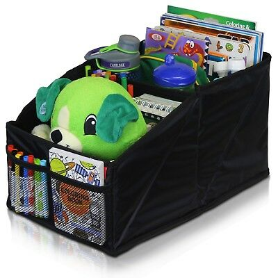 Car Seat Organizer for Front or Backseat with Black Stitching - 8 Storage Toys