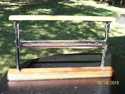 Vintage CAST IRON Paper CUTTER / HOLDER / DISPENSER Butcher or  Craft Paper