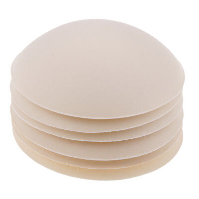 Bra Pad 3 Pair Beige Sewing In Sponge Insert Soft Cup Removable Padded