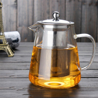 Glass Teapot With Infuser Set 950ml Glass Tea Pot Sleeve For