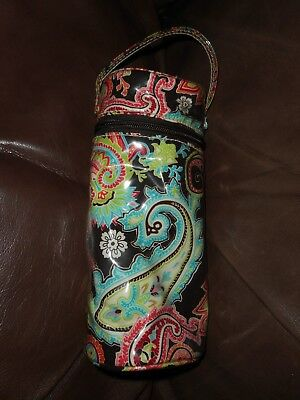 Kalencom Multi-color Paisley Baby Bottle Cooler Bag Insulated Zippered Handle