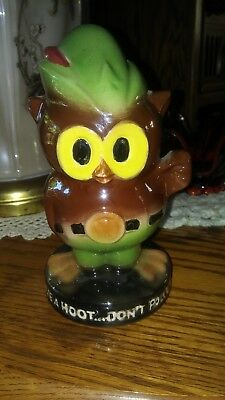 Woodsy Owl Unmarked McCoy 1970's Give A Hoot...Don't Pollute Bank