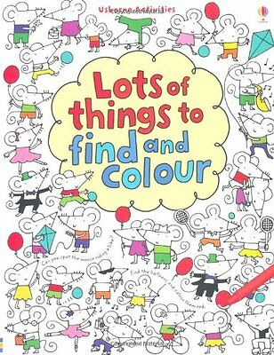 Lots of Things to Find and Colour (Find & Colour) by Fiona Watt   Paperback Book