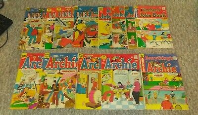 Lot Of 13 Mixed Archie Comics, Archie, Life With Archie , Joke Book