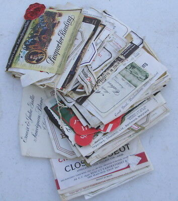 LARGE LOT 100+ VINTAGE WINE BOTTLE LABELS 1960's & 70's
