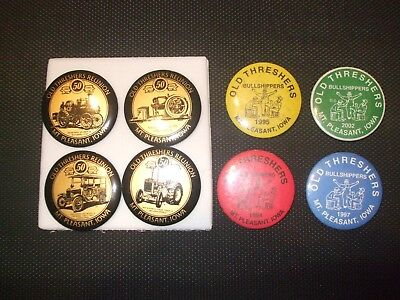 old threshers pinback buttons