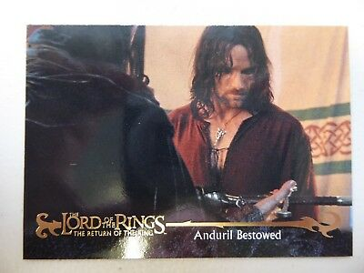 TOPPS Card : LOTR The Return Of The King  #44 ANDURIL BESTOWED