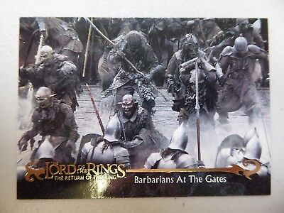 TOPPS Card : LOTR The Return Of The King  #51 BARBARIANS AT THE GATES