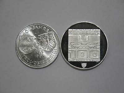 Austria 1976 1963 100 50 Schilling Proof & Unc Silver World Coin Collection Lot
