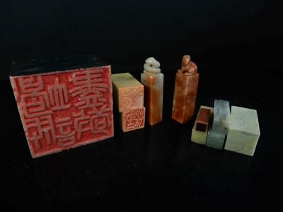 J3362: Chinese Stone Chop stamp material SEALS Bundle sale Calligraphy tool