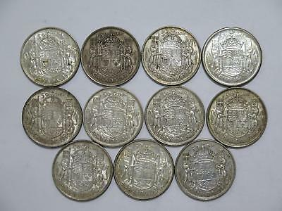Canada 50 Cents Silver Type Mixed Date Old World Coin Collection Lot #bb