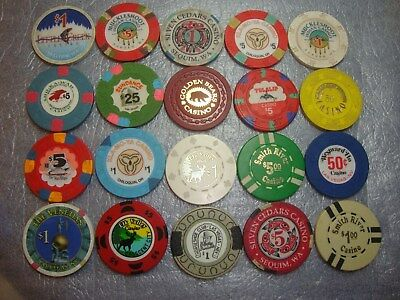 Lot 20 Mixed Casino Chips Various Locations Vegas Washington Oregon