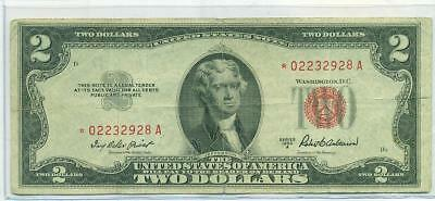 1953 A $2 Red Seal U.s. Note  *** Star Note ***