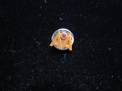 Vintage American Airlines AA 14k Gold Ruby Employee Service Pin