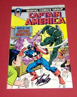 Captain America Meets The Asthma Monster #nn Signed Stan Lee! Rare Mini Variant!