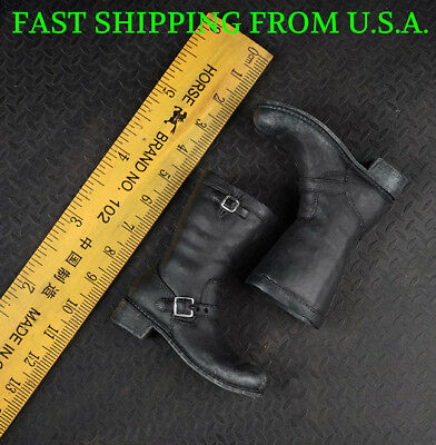 """1//6 Black Slope High Heeled Combat Boots For 12/"""" PHICEN Hot Toys Female ❶USA❶"""