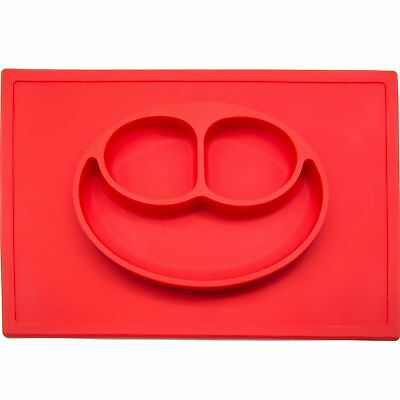 Smiling Face All-in-one Toddler Mini Silicone Placemat Baby Feeding Mat