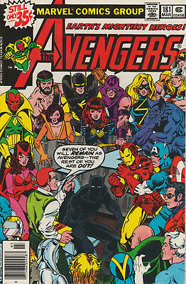 The Avengers #181 (Mar 1979, Marvel) First Scott Lang Appearance GOTG Key issue