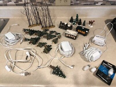 Department 56 Lot Of Misc Accessories And Cords