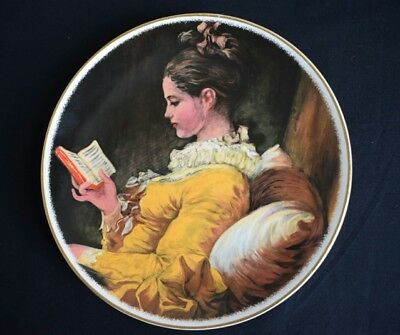 """Crown Winsor Plate """"A YOUNG GIRL READING"""""""