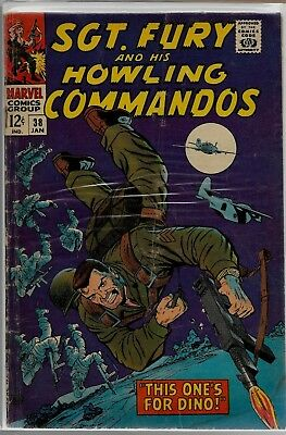 Marvel Comics SGT. FURY And His HOWLING COMMANDOS #38 G/VG 3.0
