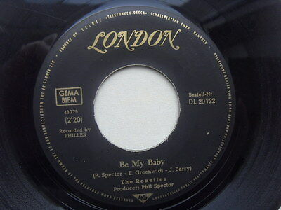 "7"" The Ronettes - Be My Baby / Tedesco and Pitman / London DL20722 - 1963"