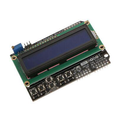 LCD Screen Keypad Shield for Arduino, 1602 Blue LCD, 6 Push Buttons