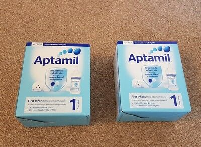 2 Boxes - Aptamil first starter pack - new unopened