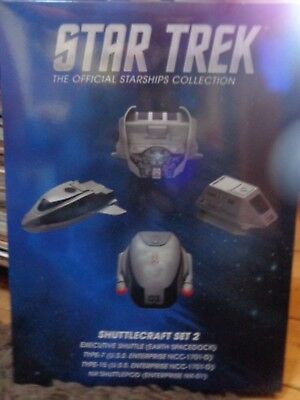 STAR TREK Eaglemoss Starships Collection Special SHUTTLE SET 2  Neu OVP