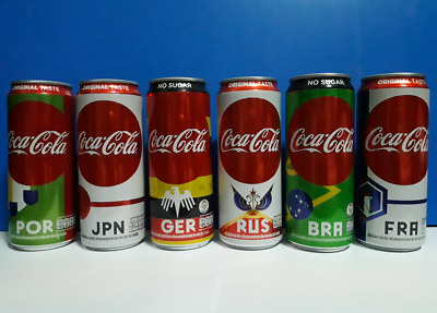 Thai Limited Edition Coke Aluminum Can FIFA World Cup 2018 set of 6